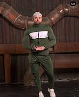 Мужской стильный спортивный костюм на молнии, фото 1