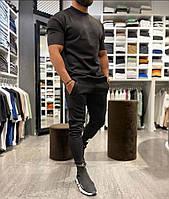 Мужской стильный спортивный костюм: футболка и штаны, фото 1