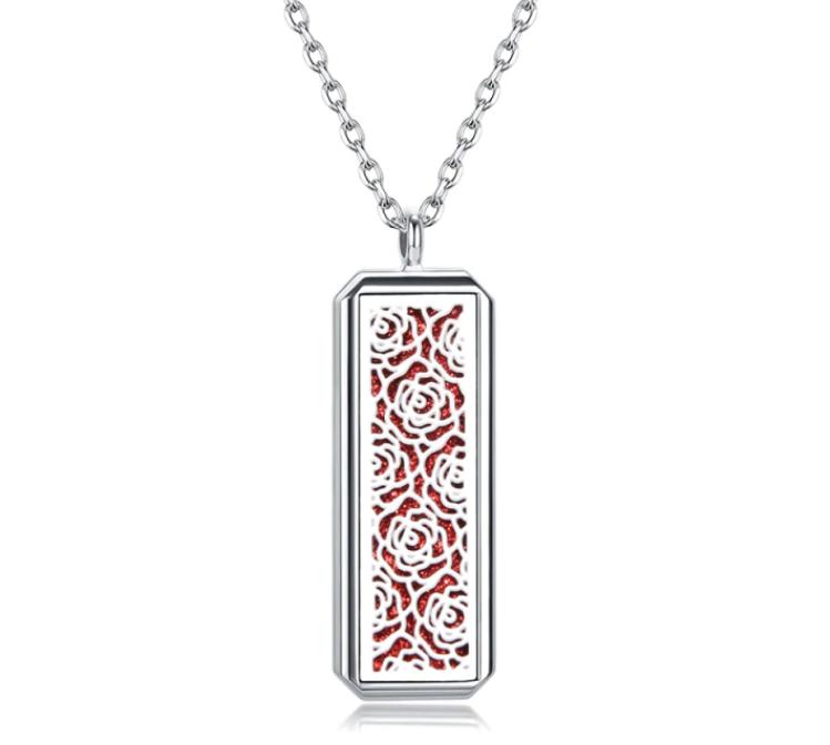 """Медальйон для ароматерапії """"Троянда"""" з блоттером."""