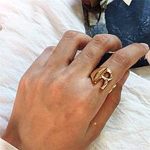 Кольцо Женское City-A цвет Золотое в виде Буквы X Регулируемое Безразмерное Буква Алфавит №3221, фото 3