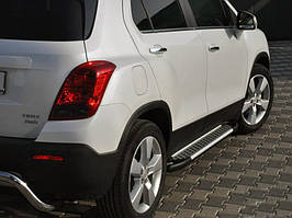 Chevrolet Trax 2012↗ рр. Бічні пороги Allmond Grey (2 шт., алюміній)