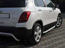 Chevrolet Trax 2012↗ рр. Бічні пороги Fullmond (2 шт., алюміній)