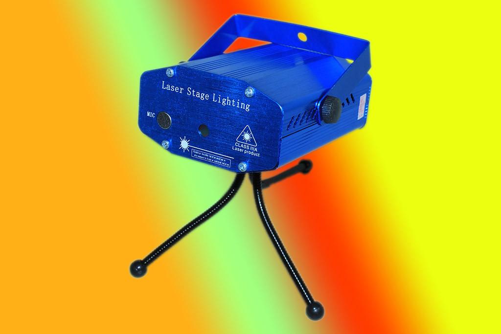 Лазерный проектор Mini Laser stage lighting YX-08 (диско)