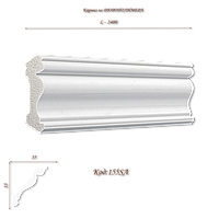 155SA Карниз декоративный из дюрополимера