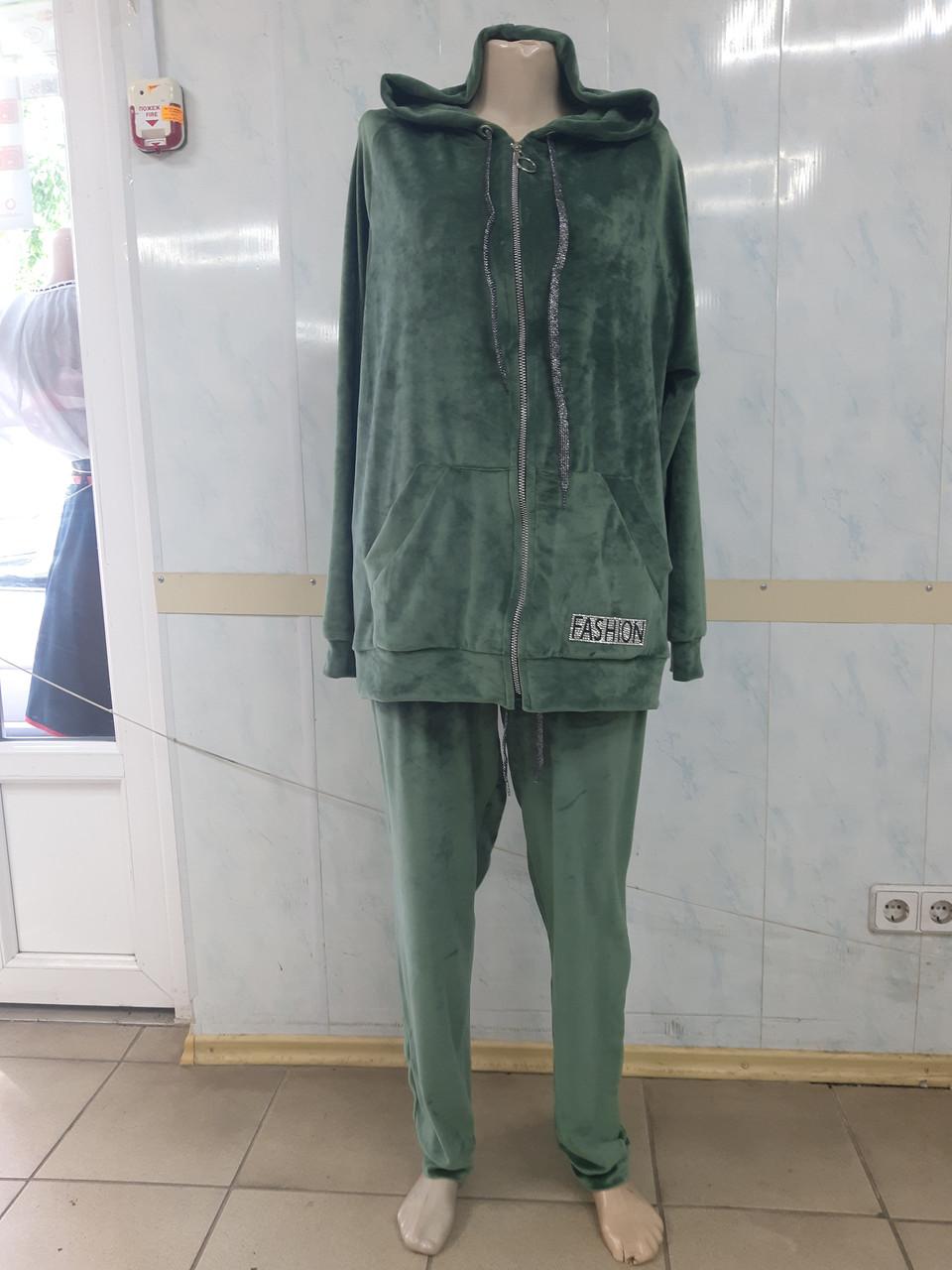Женский Велюровый спортивный костюм большие размеры р.54 - 60
