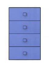 Комод Аватар 4S венге м./синій (Гербор)