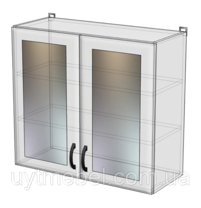 Кухня Нова 600 ВВ білий/страйп білий (Абсолют)