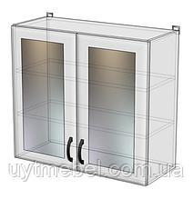 Кухня Нова 600 ВВ білий/бетон св. (Абсолют)