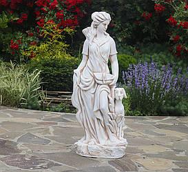 Садовая статуя Богиня охоты 27x20x83 см цвет Крем