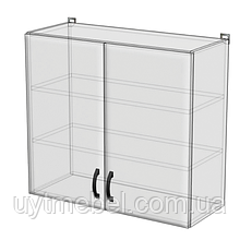 Кухня Нова 600 В 2Д білий/бетон св. (Абсолют)