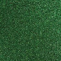 Фоамиран 2 мм с глиттером (блестками) 40х30 см Зеленый самоклейка
