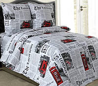 Комплект постельного белья евро LONDON  (нав. 70*70)