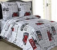 Комплект постельного белья двуспальный ЛОНДОН  (нав. 70*70)