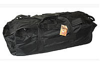 Тактичний сумка-рюкзак (баул) на 80 літрів RVL 177-чорний, фото 1