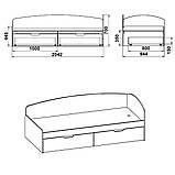 Односпальная кровать 90+2 С, фото 9