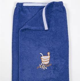 Парео для сауни Lotus - Синій 65*145