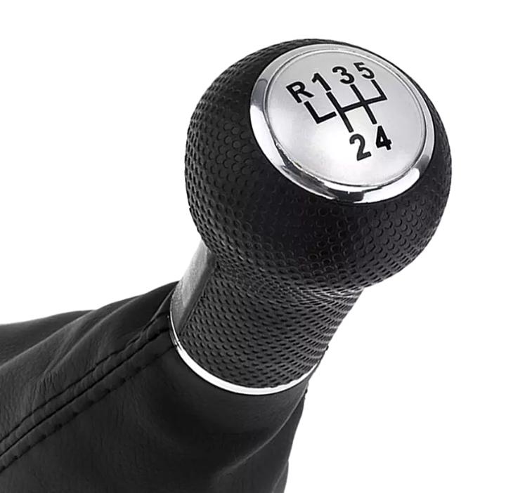 Ручка кпп с чехлом кулисы 5 ступеней VW Volkswagen Golf 4, Bora, Jetta серая 23 мм