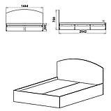 Двоспальне ліжко 140, фото 3