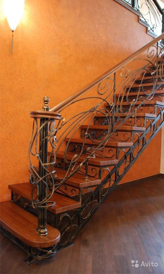 Металлические ограждения для лестницы