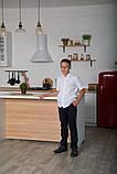 Белая рубашка для мальчика с коротким рукавом, на кнопках SmileTime, фото 2