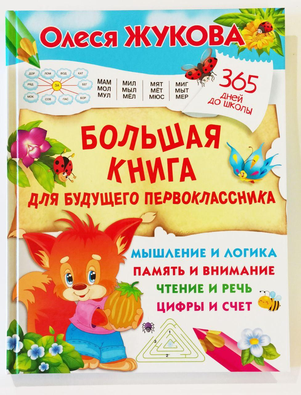 Большая книга для будущего первоклассника. 365 дней до школы. Олеся Жукова.