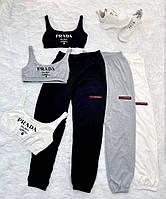 Спортивний костюм жіночий топ і штани на манжеті, фото 1
