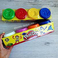 Тесто для лепки 4 цвета Play-Doh