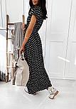 Літнє плаття в горошок на запах довжиною міді з коротким рукавом (р. 42-46) 40032483, фото 9