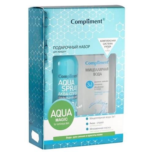 Синий (миц вода 3в1 200мл +аква-спрей охл 200мл+саше маска смяг-успокаив) Compliment