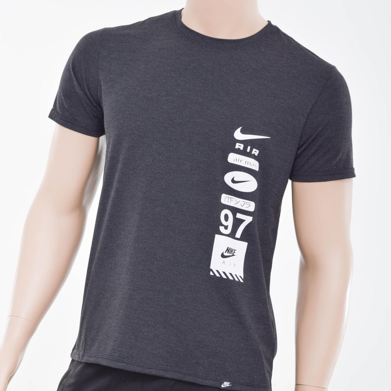 Чоловіча футболка Nike(репліка) Антрацит