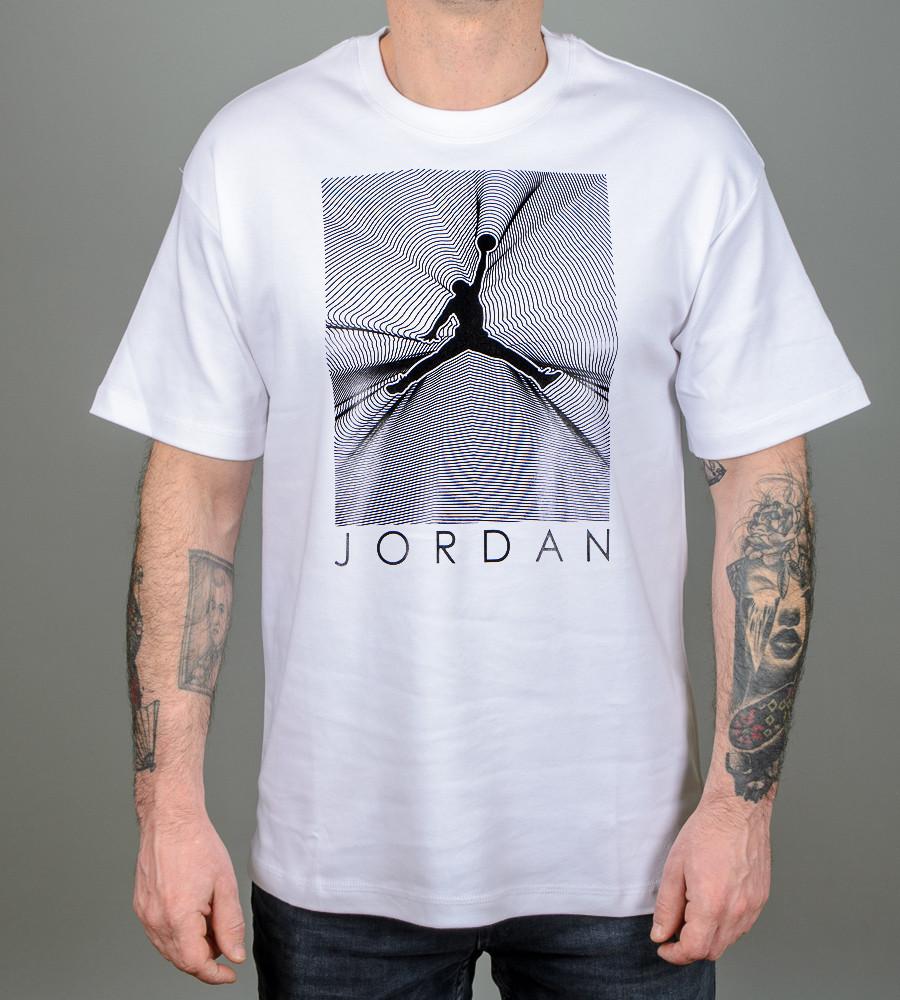 -Р- Футболка оверсайз Jordan Белый (2107з), XL