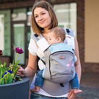 """Рюкзак-слинг Love & Carry """"Розовые фламинго"""" Эргономичные рюкзаки для переноски детей ерго cлiнг НеКенгуру, фото 1"""