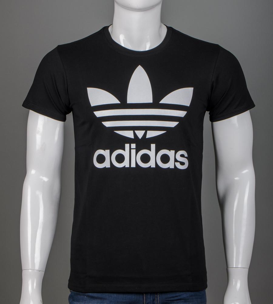 -Р- Футболка мужская Adidas Черный (2112м), XL
