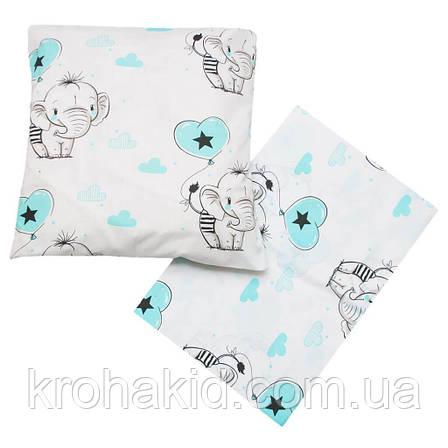 Детское постельное сменное белье в кроватку / в манеж Qvatro Gold 3в1: наволочка, пододеяльник, простынь, фото 2
