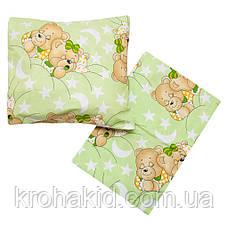 Детское постельное сменное белье в кроватку / в манеж Qvatro Gold 3в1: наволочка, пододеяльник, простынь, фото 3