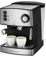 Кофеварка эспрессо рожковая clatronic es 3643 для дома кухни с капучинатором с нержавеющей стали 15 бар