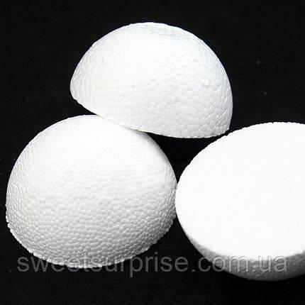 Пенопластовый шар половинка (10 см.), фото 2