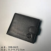 Мужской кожаный кошелёк HT 208-0613 чёрный