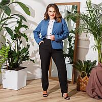 Жіночий Костюм трійка ,Жакет, блуза, штани, Матеріал: костюмна тканина, легкий одяг і блуза з софта(50-56), фото 1