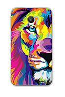 Чехол для Meizu MX3 (Красочный лев)