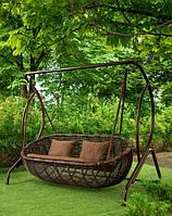 Садові гойдалки з ротангу , різних кольорів, фото 1