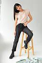Бежева жіноча футболка зі знімними ланцюжками, фото 4