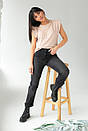 Бежевая женская футболка со съемными цепочками, фото 4