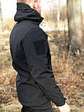 Куртка Military Soft Shell Black, фото 3