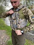 РАЗГРУЗОЧНЫЙ ЖИЛЕТ FSBE С СИСТЕМОЙ MOLLE ПИКСЕЛЬ, фото 2
