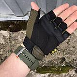 Перчатки тактические Mechanix M-Pact Fingerless Glove Olive, фото 5
