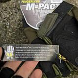 Перчатки тактические Mechanix M-Pact Fingerless Glove Olive, фото 6