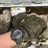 Перчатки тактические Mechanix M-Pact Fingerless Glove Olive, фото 7