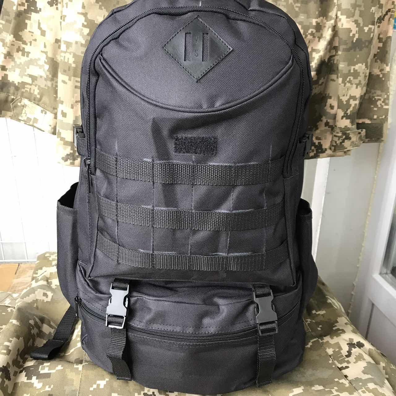 Рюкзак тактичний чорний на 40л