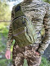 Тактична сумка через плече EDC Olive